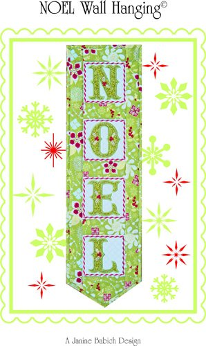 Noel Wall Hanging Digital Embroidery Pattern