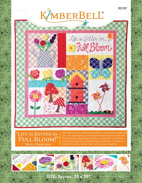 Life is Better in Full Bloom Wall Hanging Pattern