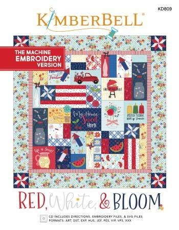 Red White & Bloom Machine Embroidery Version