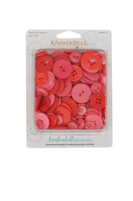 Kimberellishments Red and Pink Button Set