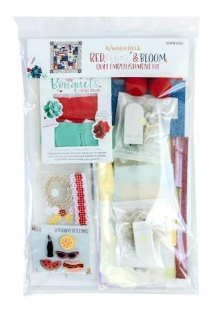 Red White & Bloom Embellishment Kit
