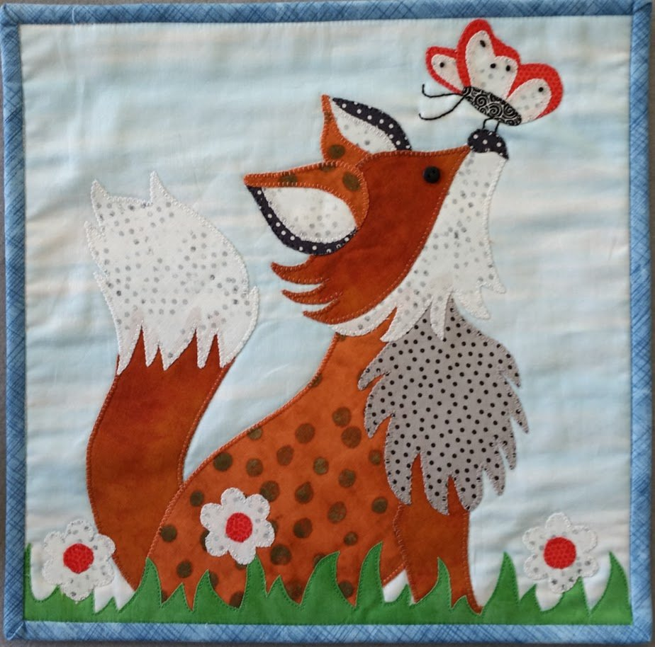 Little Quilts Squared Frolicking Fox Fabric Kit