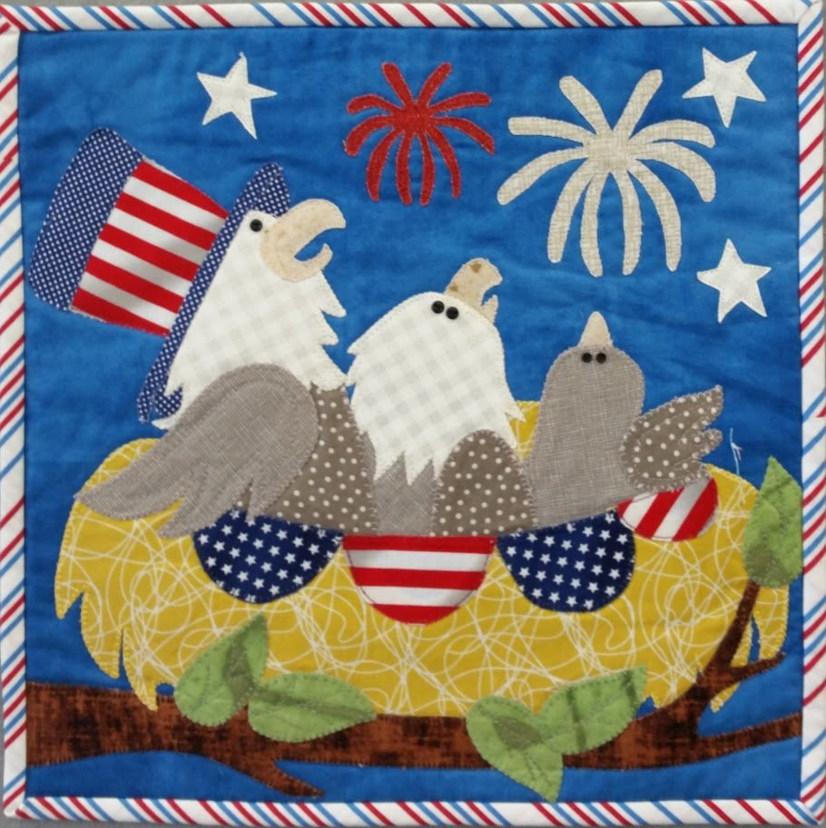 Little Quilts Squared Star Spangled Fabric Kit
