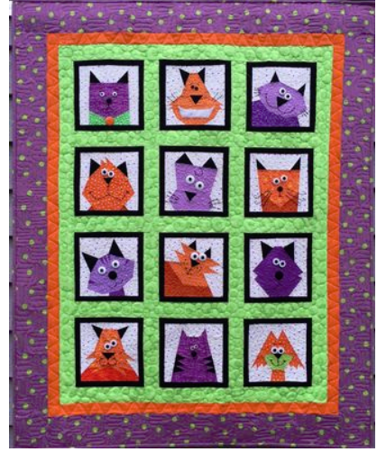 Crazy Cats Pattern