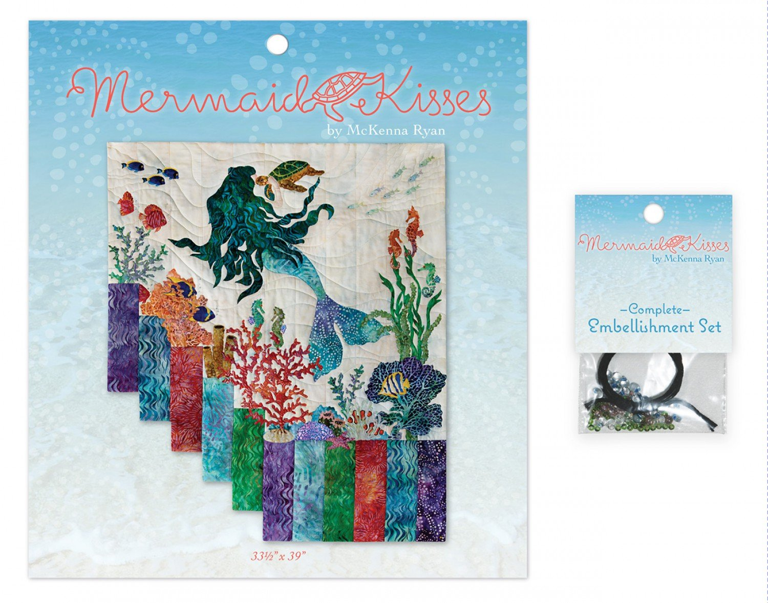 Mermaid Kisses Complete Embellishment Kit and Pattern Set
