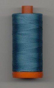 Aurifil 50wt Peacock Blue Thread