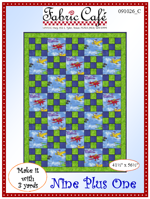 Nine Plus One 3 Yard Quilt Pattern
