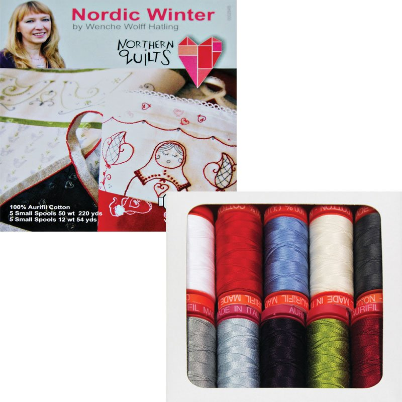 Aurifil Nordic Winter Thread Collection