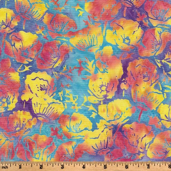 Tiedye Poppies Batik SH109-860