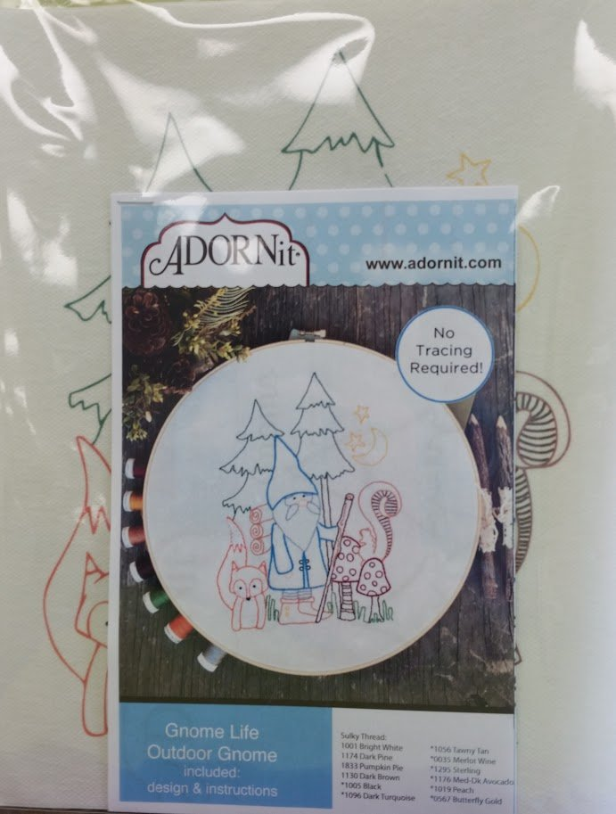 Gnome Life Artplay July  Stitchery Pattern