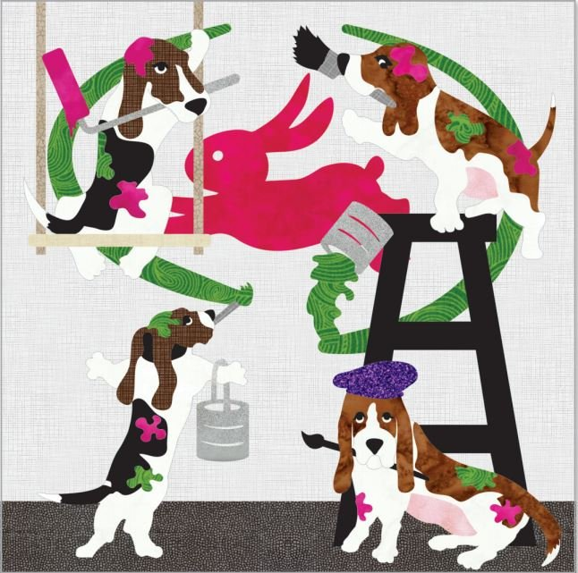 Paintin' Pups Laser Cut Kit, 2021 Quilters Trek