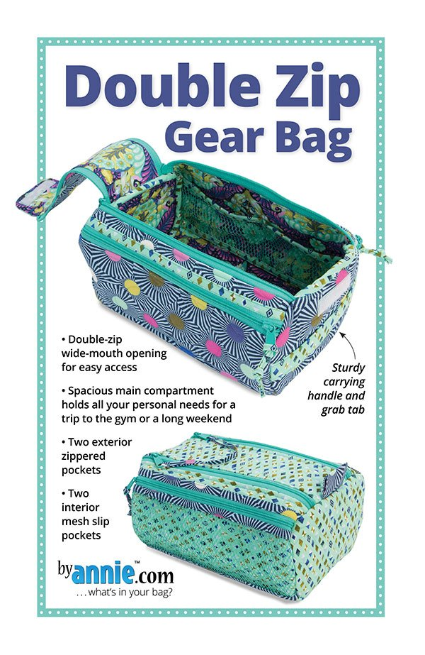 Double Zip Gear Bag Pattern