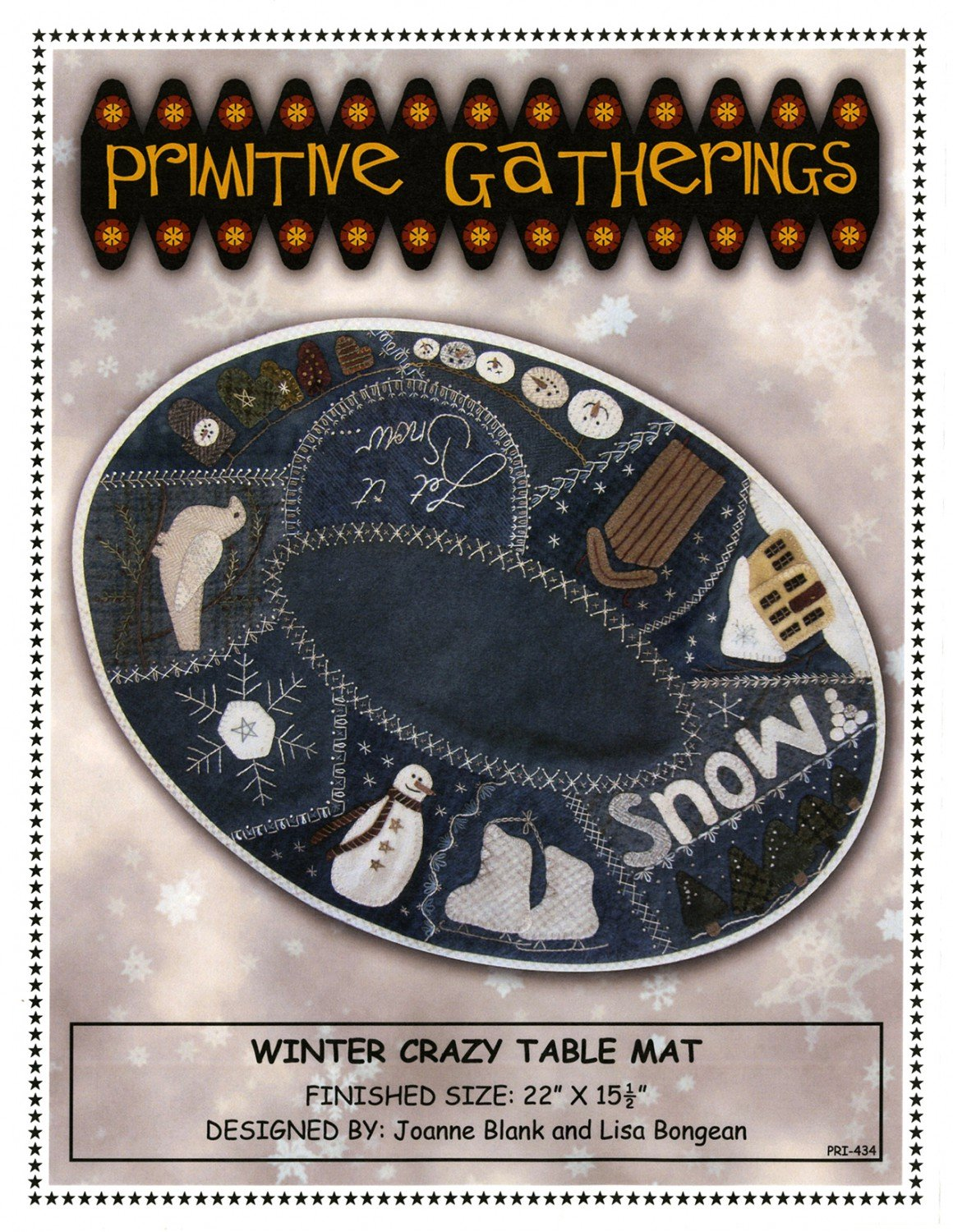 Winter Crazy Table Mat Pattern