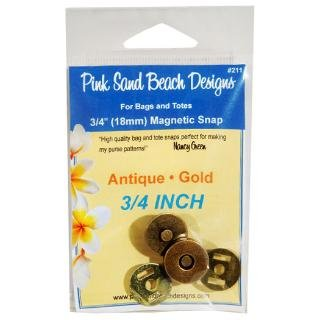 3/4'' Magnetic Snap, Antique Gold