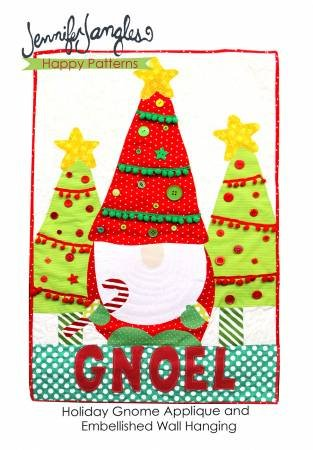Holiday Gnome Applique and Embellished Wall Hanging Pattern