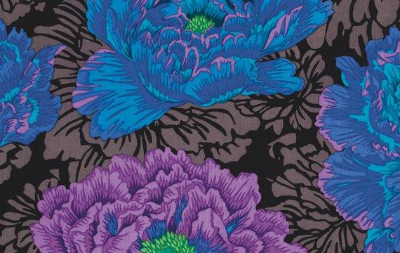 Brocade Peony-Blue