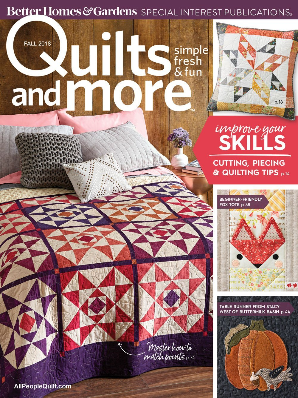 Quilts And More Magazine, Fall 2018