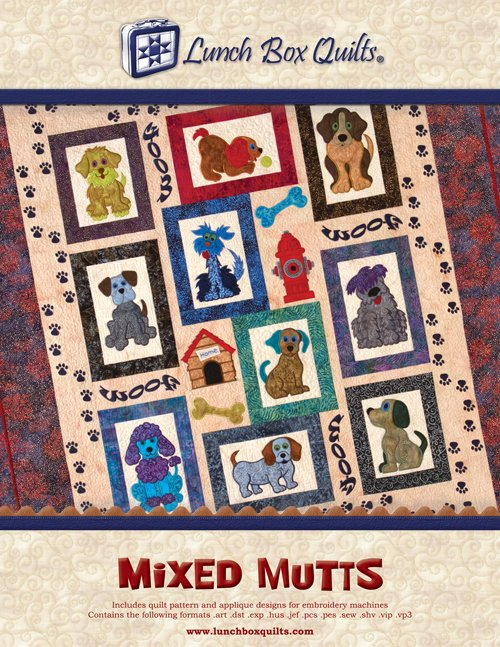 Mixed Mutts Machine Embroidery Designs