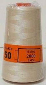 Aurifill 50 wt Light Sand Thread Cone