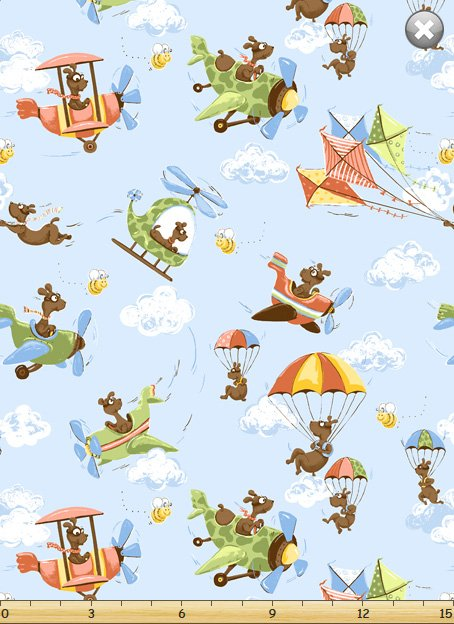 Susybee Zig the Flying Ace Dog Allover 20316-710