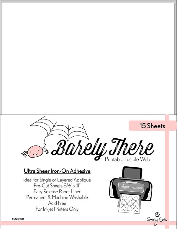 Barely There Printable Fusible Web, 15 Sheets