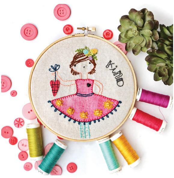 Stitchery Girls July Artplay Stitchery Pattern