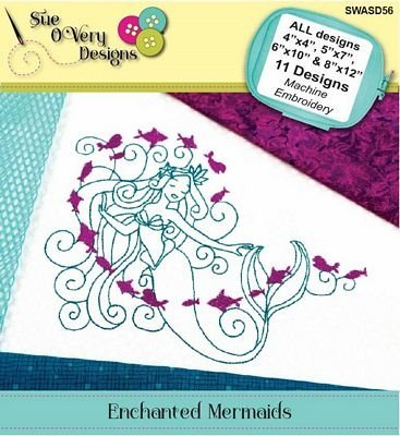 Enchanted Mermaids Machine Embroidery CD
