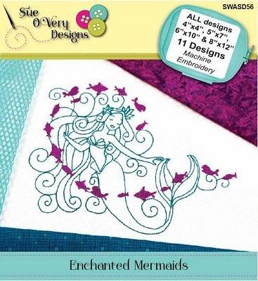 Enchanted Mermaids Machine Embroidery CD