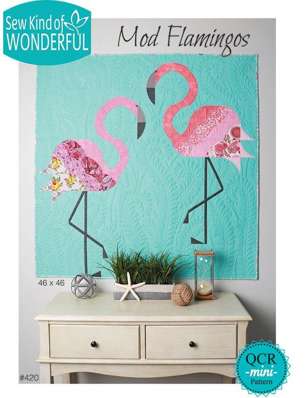 Mod Flamingos Pattern