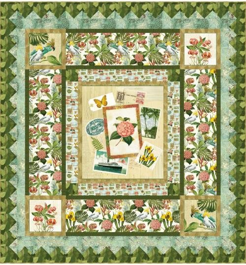 Tropical Momentos Quilt Kit with Paradise Fabrics