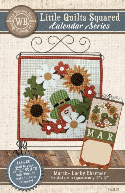 Little Quilts Squared Pattern March- Lucky Charmer