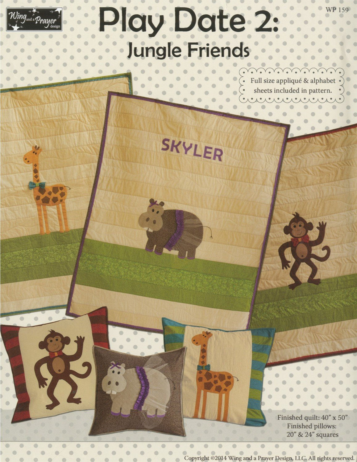Play Date 2 Jungle Friends Pattern