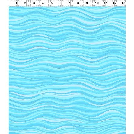 Laurel Burch Basics Lt Aqua Metalic Wave 1331-32SM