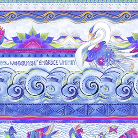 Sea Goddess Lt Periwinkle Metallic Pictoral Stripe 2597-84M