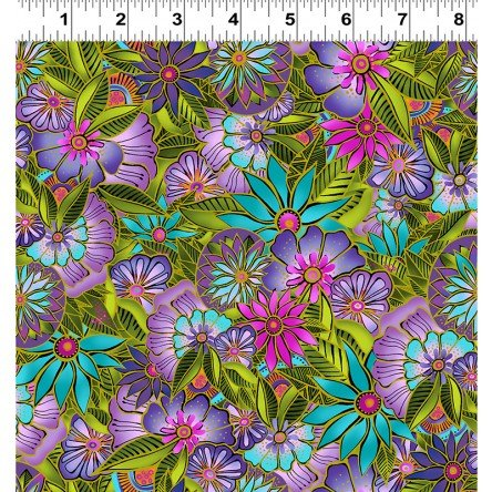 Sea Goddess Multi Color Floral 2599-55