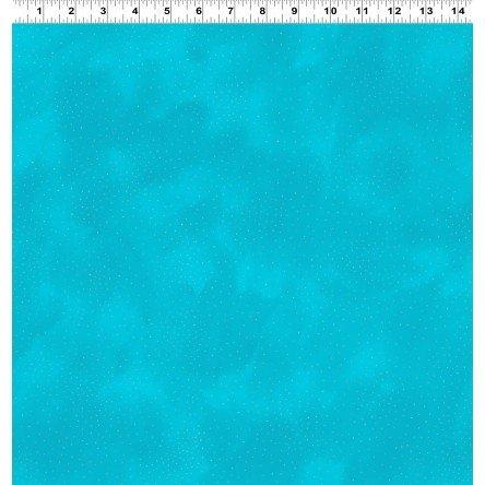 Laurel Burch Basics Aqua Silver Metallic Basic Dot 2662-33SM