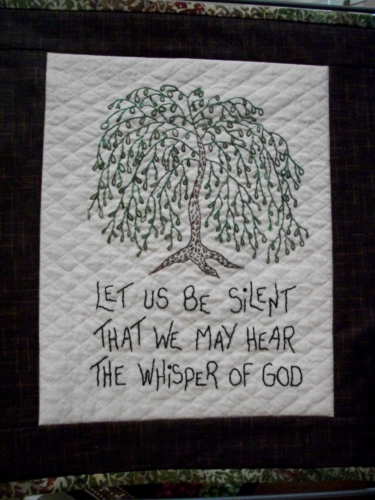 The Good Life-Let Us Be Silent - stitchery