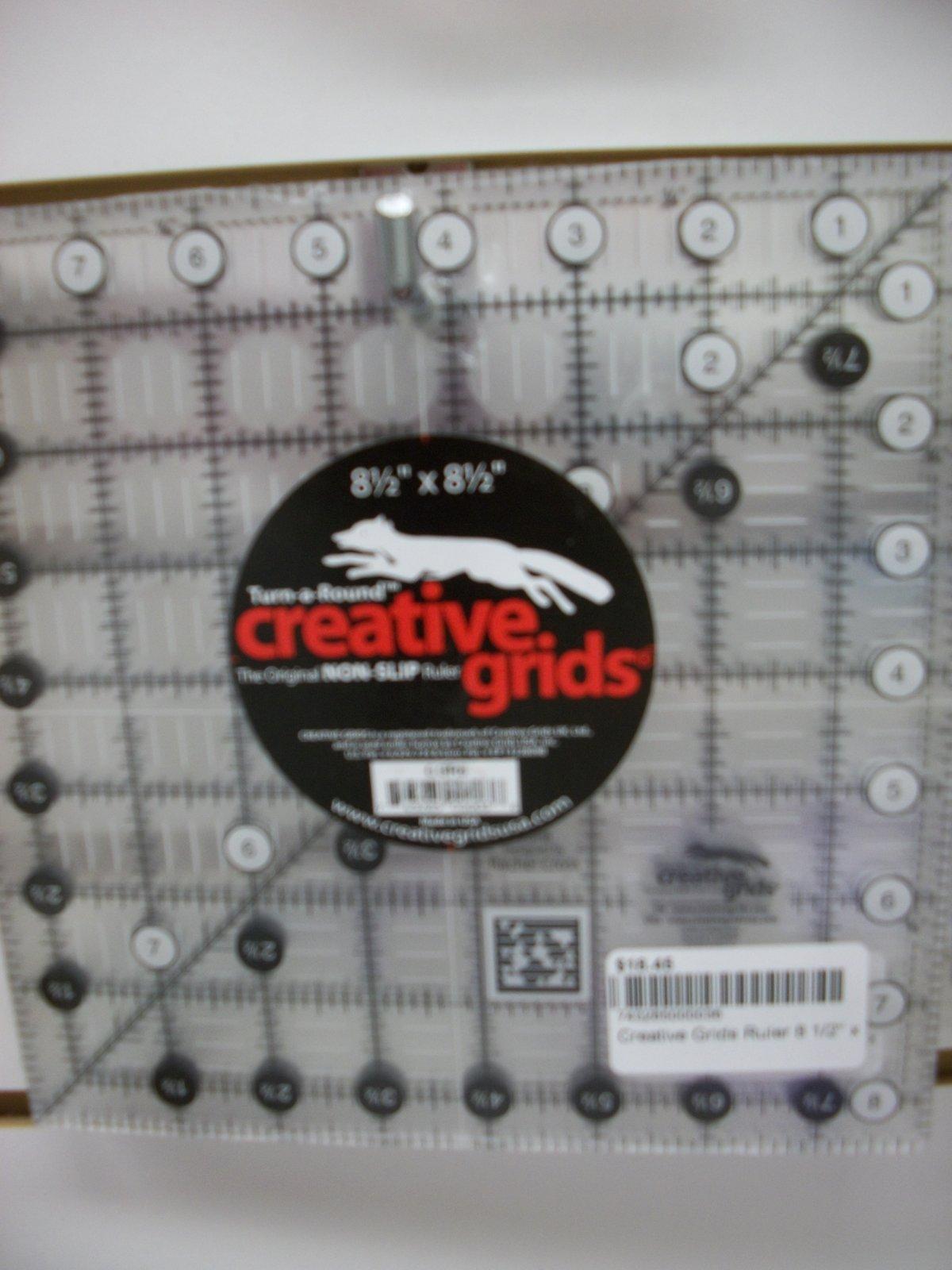 Creative Grids Ruler 8 1/2 x 8 1/2