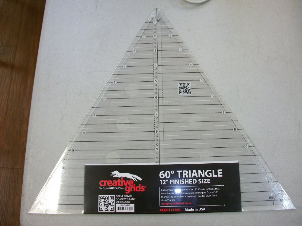 Creative Grids 60 Degree Triangle Ruler 12 finished