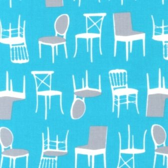 Stacked Chairs in Turquoise