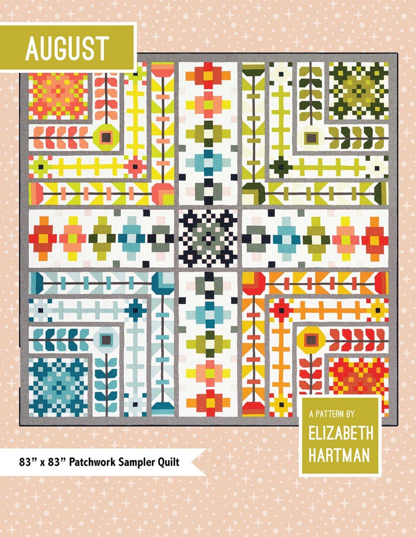August Sampler Quilt Pattern by Elizabeth Hartman