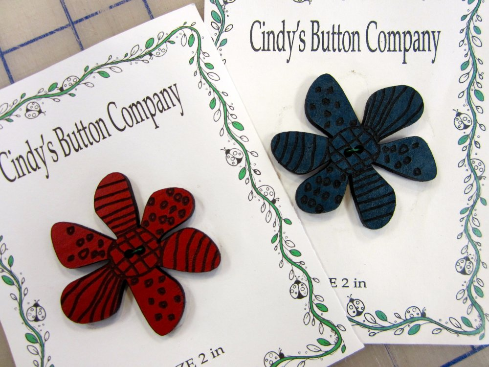 Cindy's Flower Button