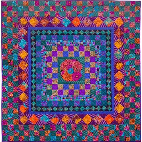 Autumn Checkerboard Kit with Kaffe Fassett