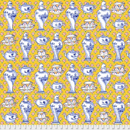 Delft Pots in Yellow