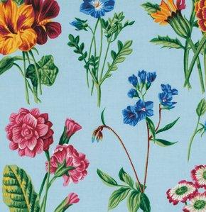 Floral Sprays in Blue