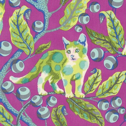Disco Kitty in Berry by Tula Pink