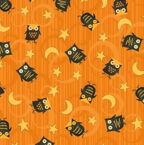 Halloween Owls Orange
