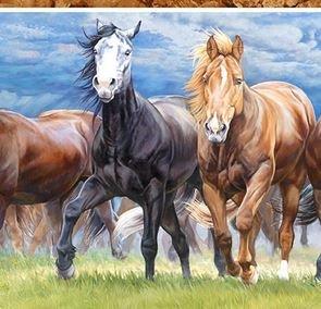 Horse Repeat Stripe Multi