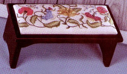 189-COLONIAL FLOWERS STOOL COVER