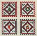 SM090-MINITURE HOLIDAY QUILTS-